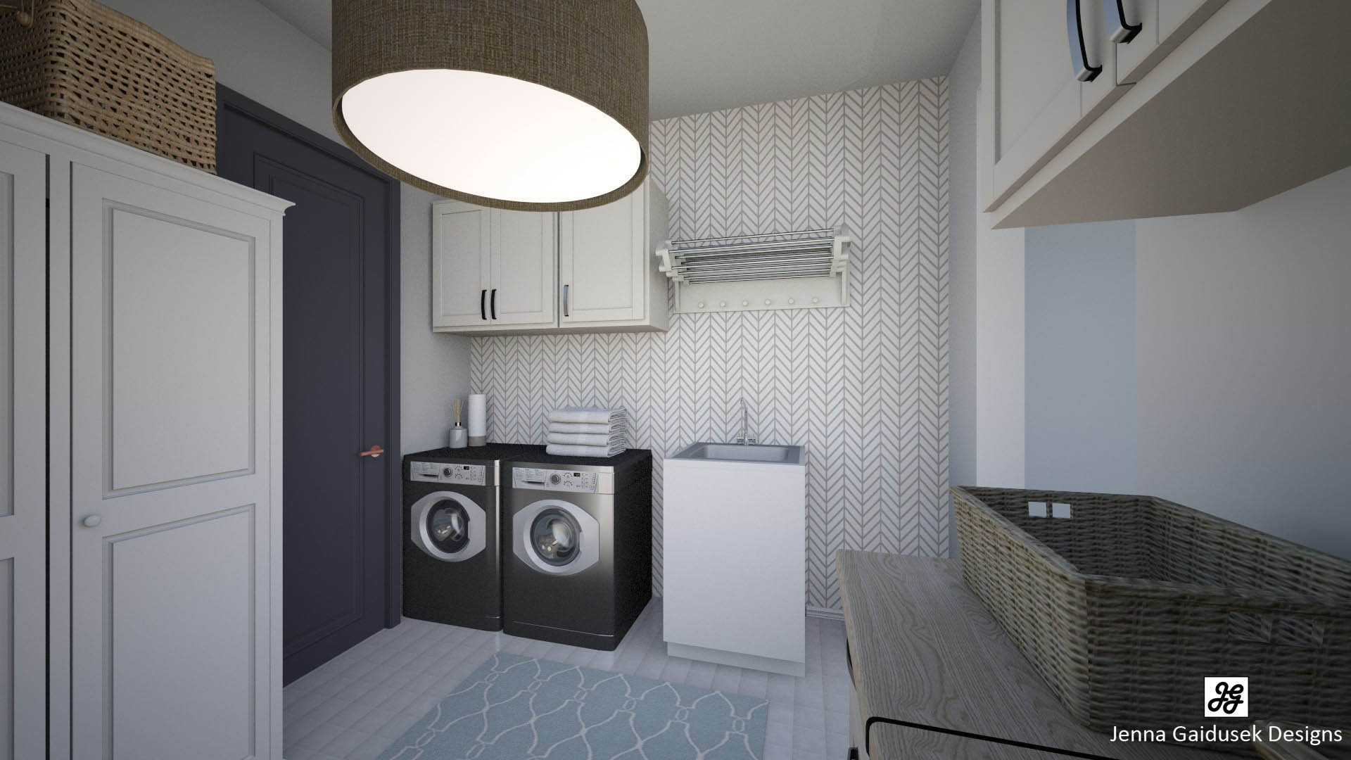 Virtual Staging Laundry Room