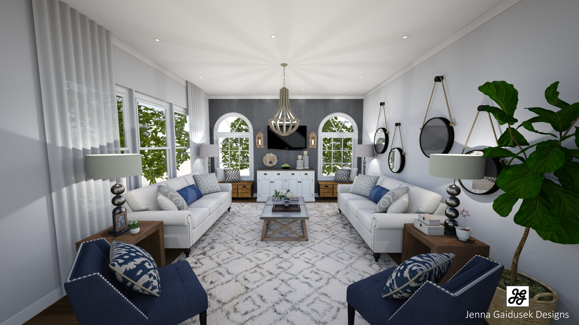 Living Room Render- Virtual Staging