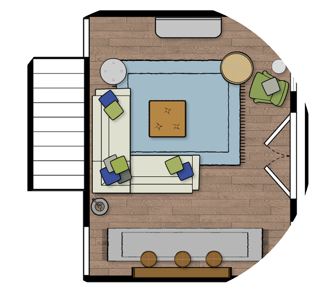 Furniture Layout- Floor Plan - Need help layout out your space? If you have a strange layout, a small space or a large open concept and you don't know how to layout the room- this package is exactly what you need! I'll send you 2-3 floor plan options to help you figure out how to best utilize your space.Click the image to learn more!