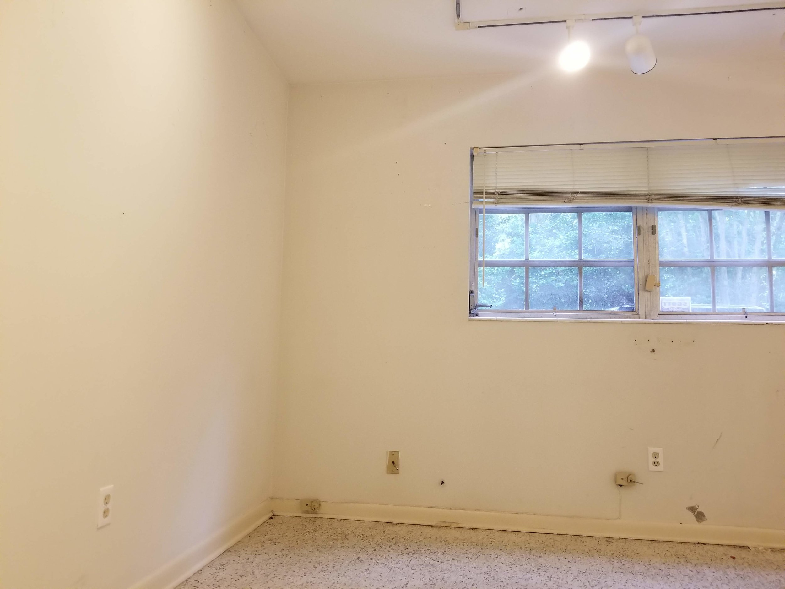 Before office picture- wallplanks, farmhouse shiplap wall
