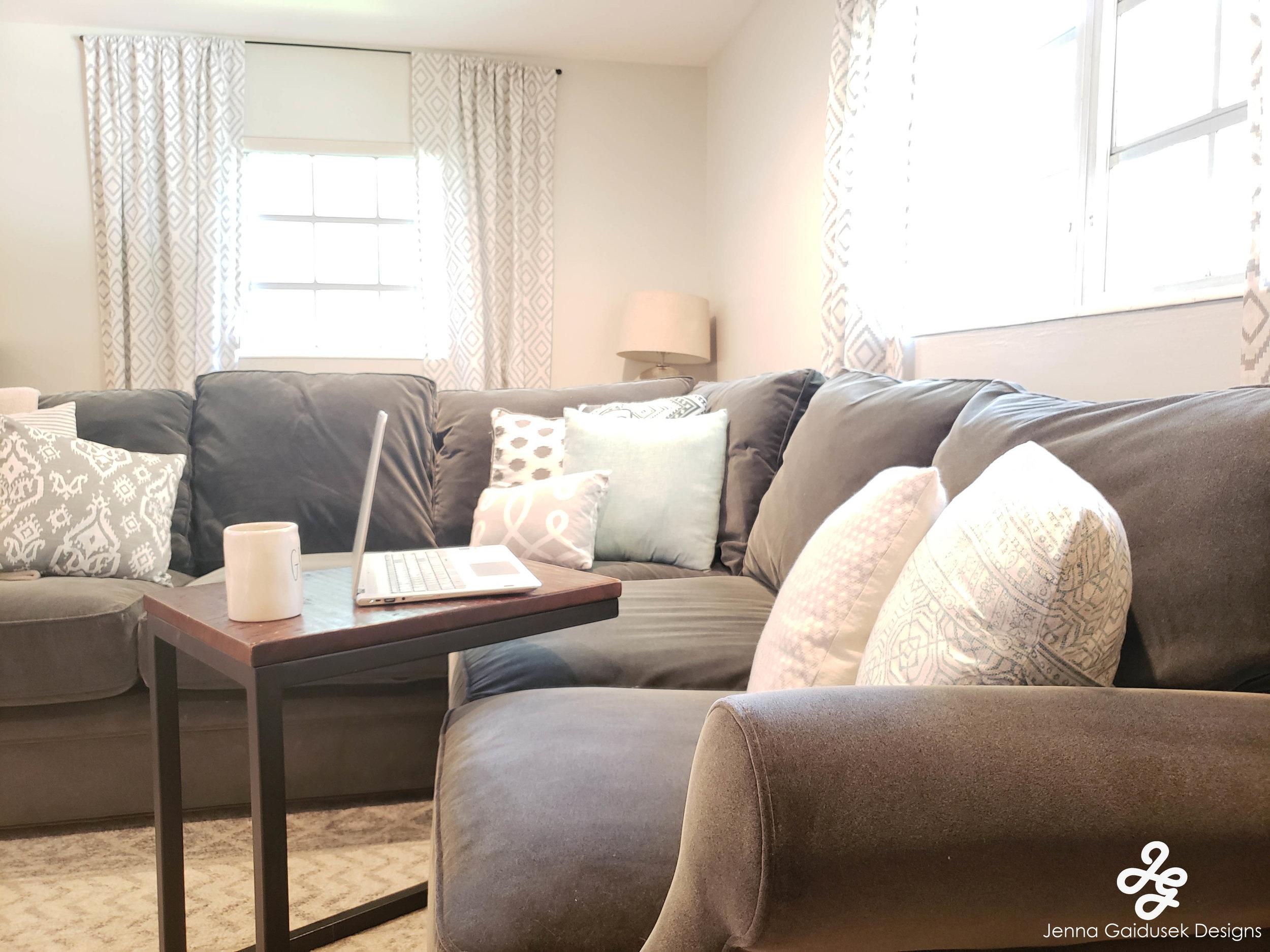 LARGE GRAY SECTIONAL Kid friendly Living room- Refined modern farmhouse, grays- white, light blue, navy, charcoal.jpg