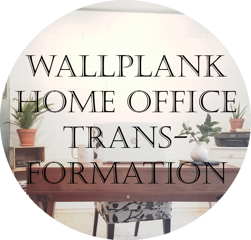 Shiplap office- wallplans before and after farmhouse office