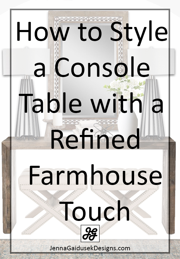 how to style your console table