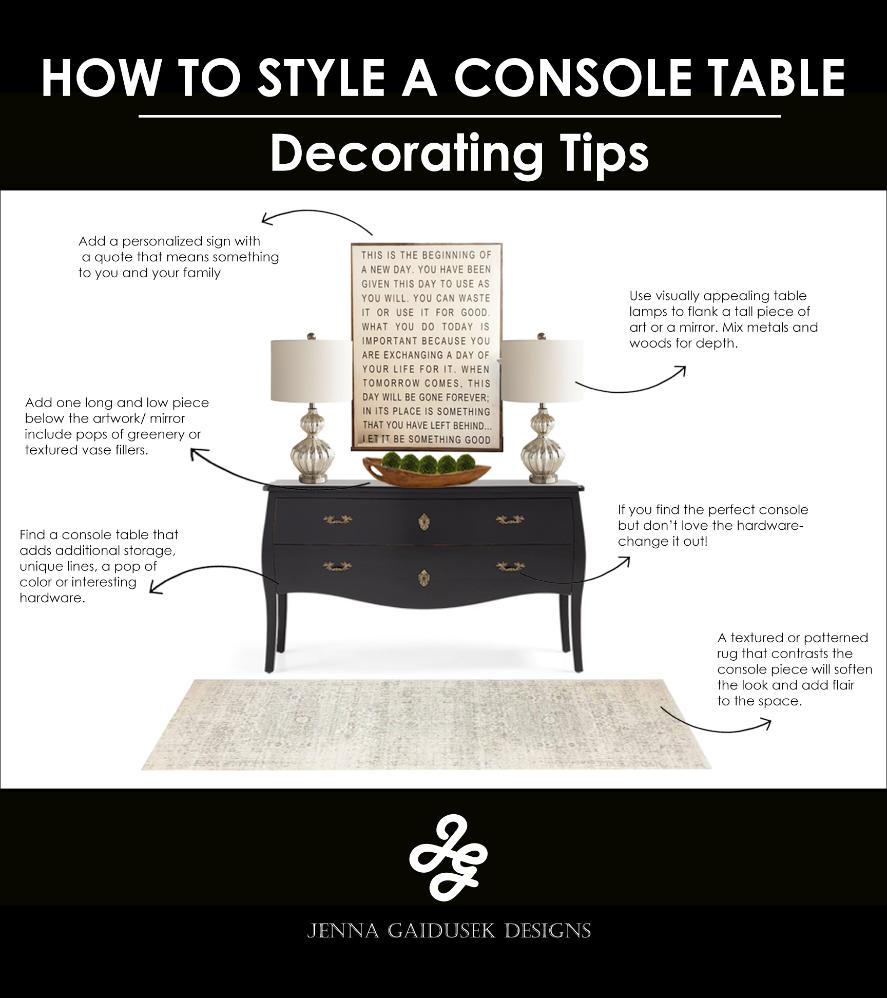 How to style a long wall console
