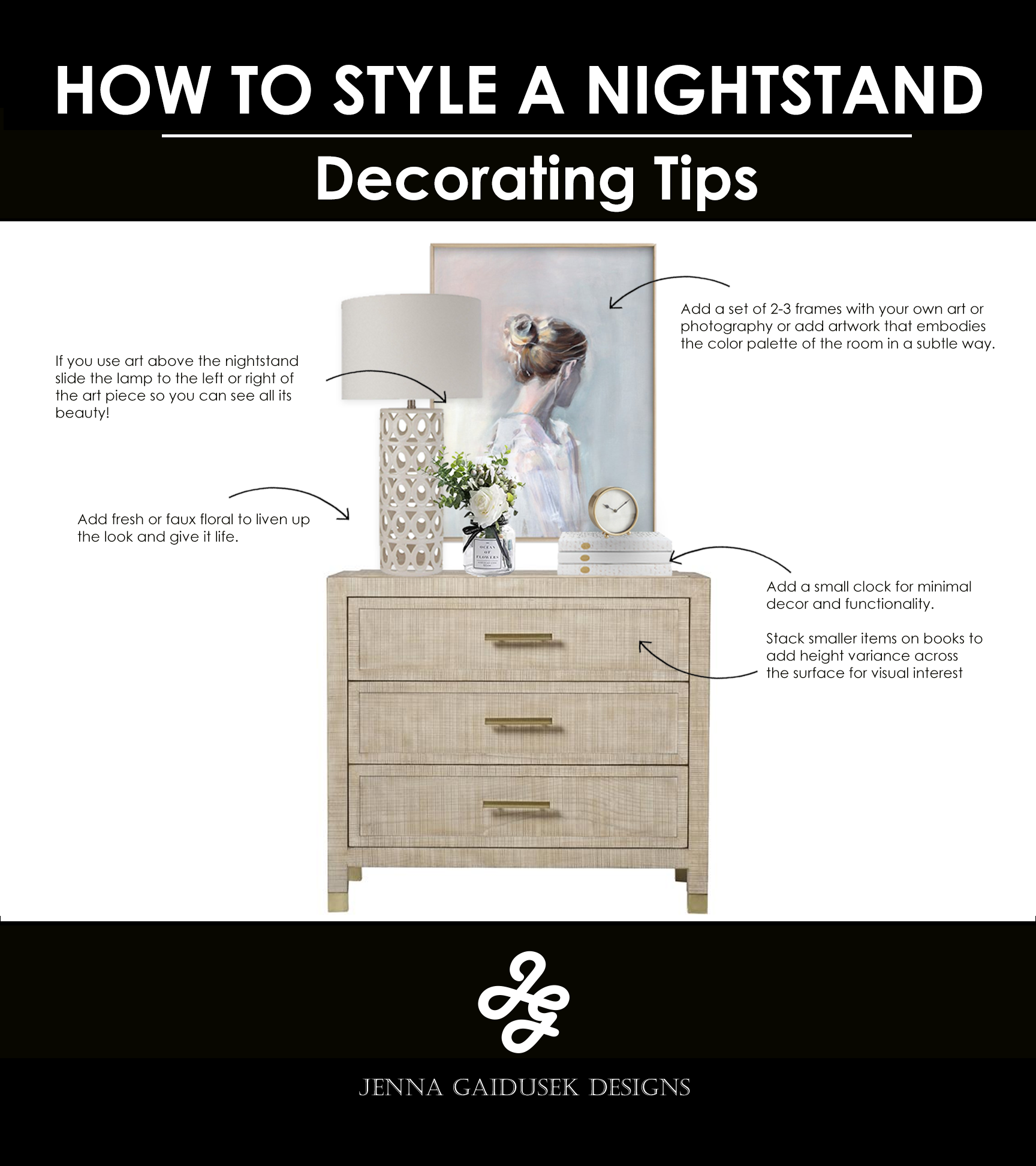 how to style your nightstand.