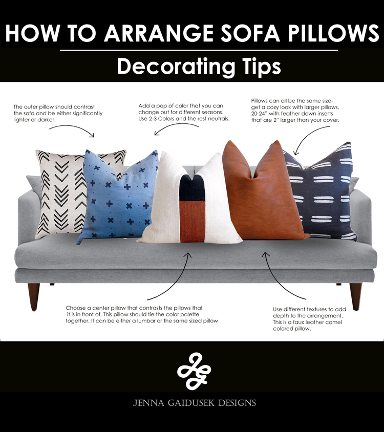 How To Style Your Sofa Pillows Jenna Gaidusek Designs