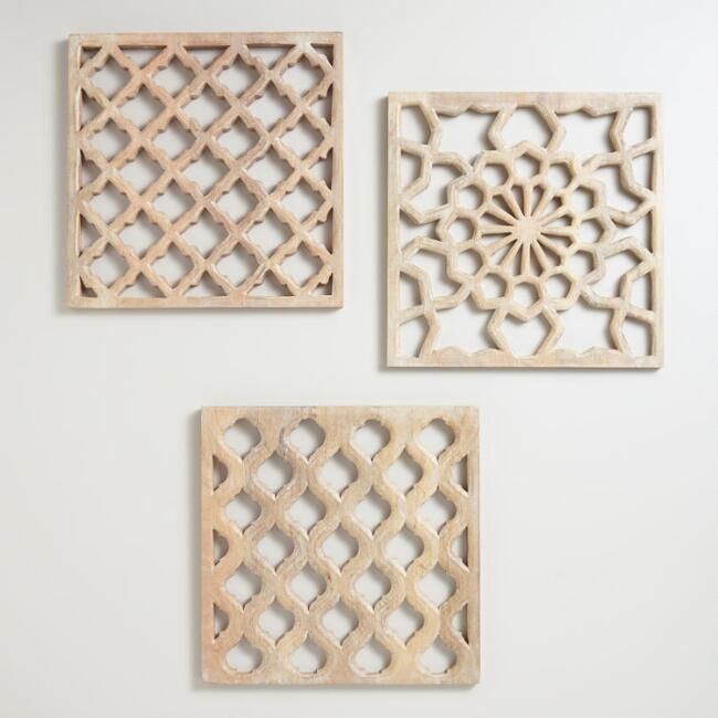 Nathan Carved Wood Wall Panels, Set Of 3.jpg
