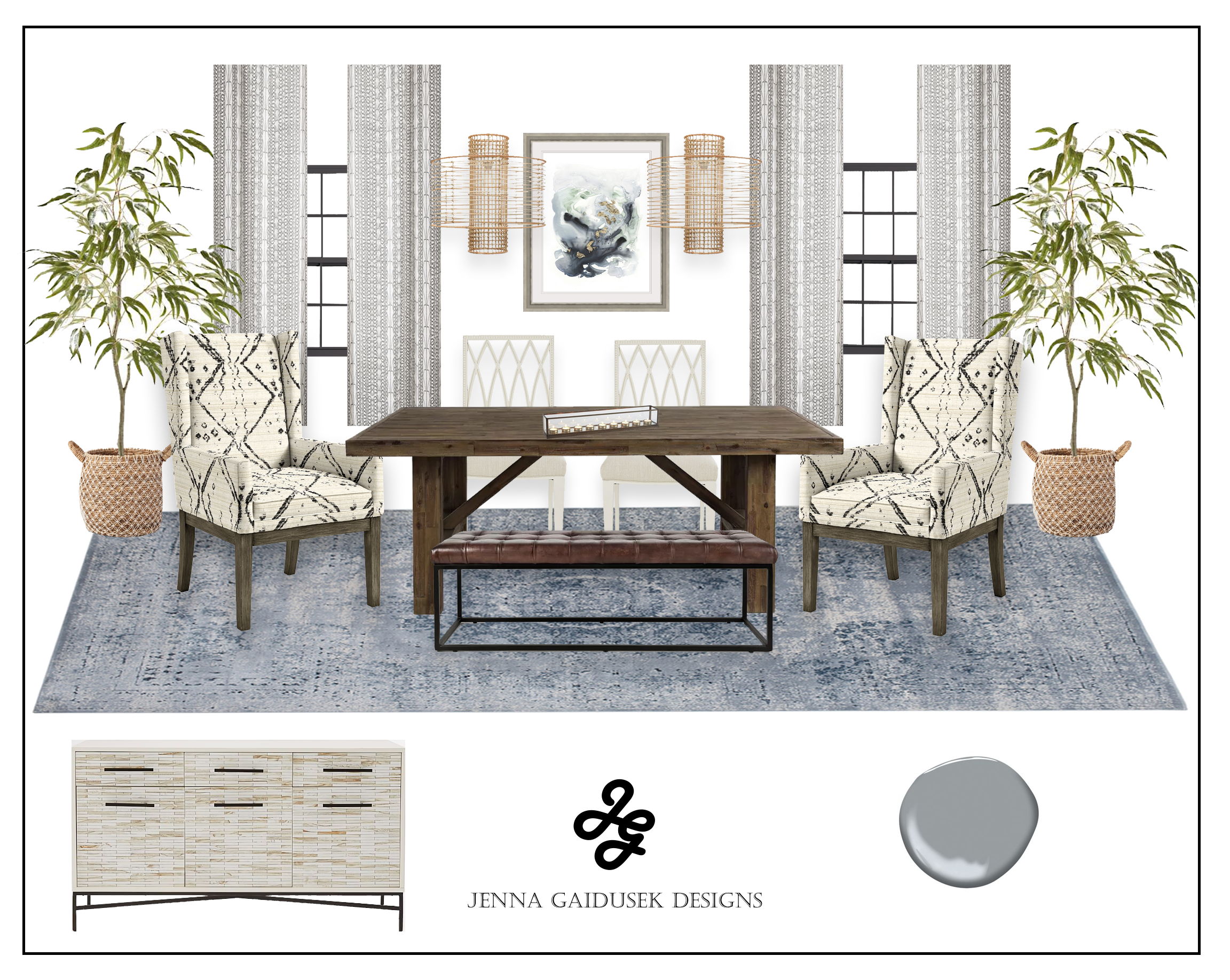 Interactive Shop The Look Dining Room Design Plan You Design Your Room With Designer Curated Piece Jenna Gaidusek Designs