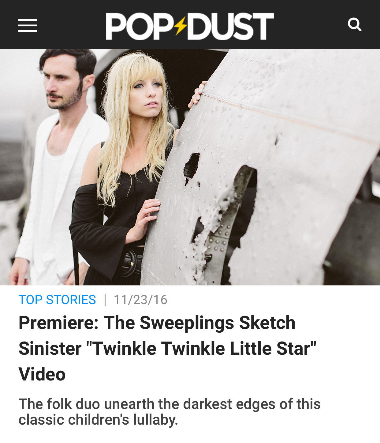Popdust Premiere - Popdust premieres music video for