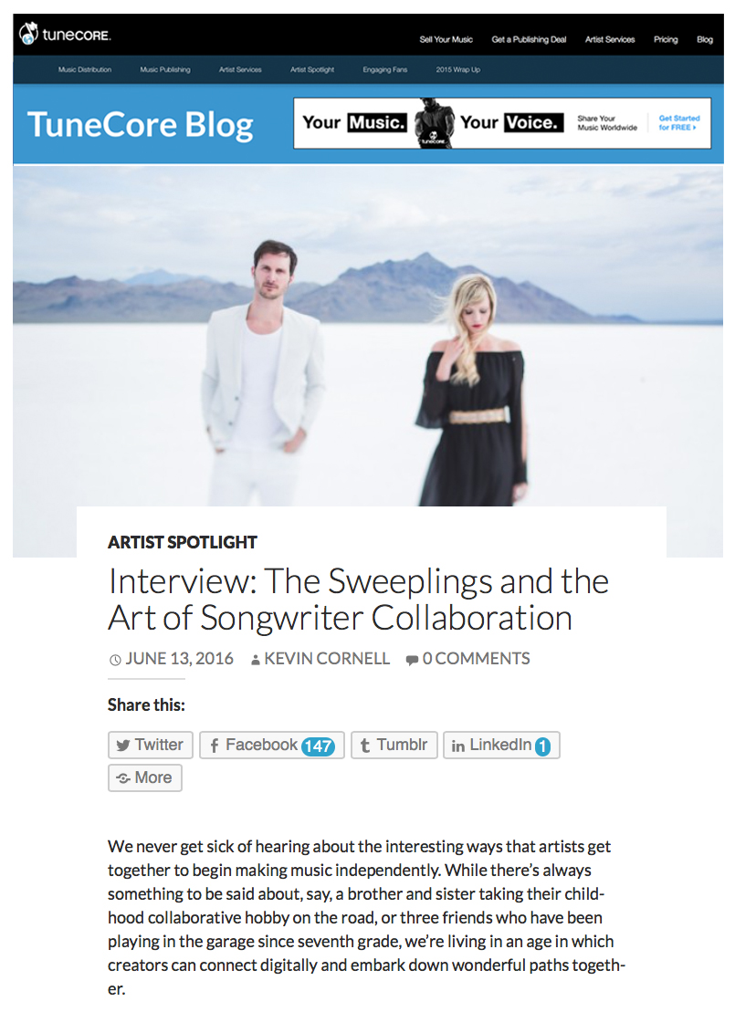 Tunecore Write up - Exclusive interview with Tunecore