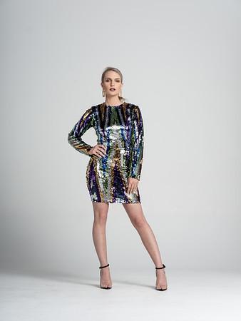 Disco Dress  Multi colored sequin mini dress/ Multicolor/ Available size 6-8