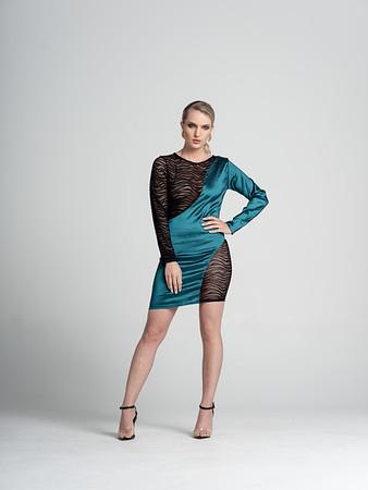 Kelly Dress  Half taffeta, half Sheer burn out velvet zebra stripe, slight stretch/ Kelly Green, Black/ Available in size 2