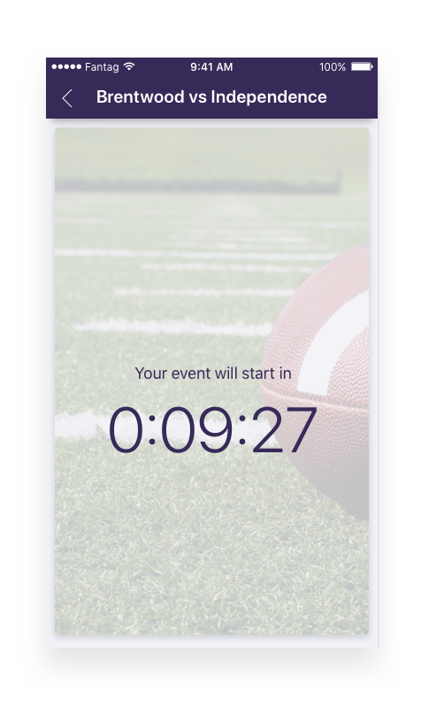 Countdown to highlights. - After your fans tap the event they want to join, they will see a countdown clock that will click off the minutes until the posted event start time.