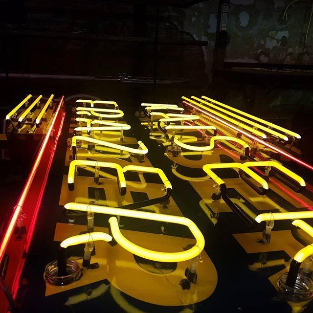 All lit up! #neon #neonsigns #vintageneon #vintage #madeinkc #troost