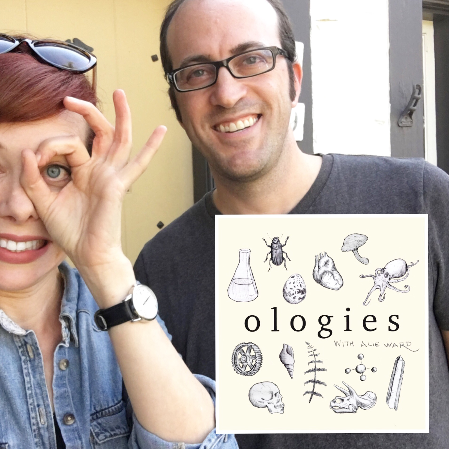 Alie Ward and Dr. Reid Wainess_Ologies_Ophthalmology.JPG