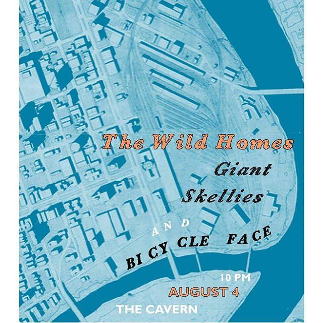 Only one more day until @thewildhomes play the @cavernwpg with @giantskellies and @bicyclefaceband! Doors at 10pm, show at 10:30pm this Saturday.