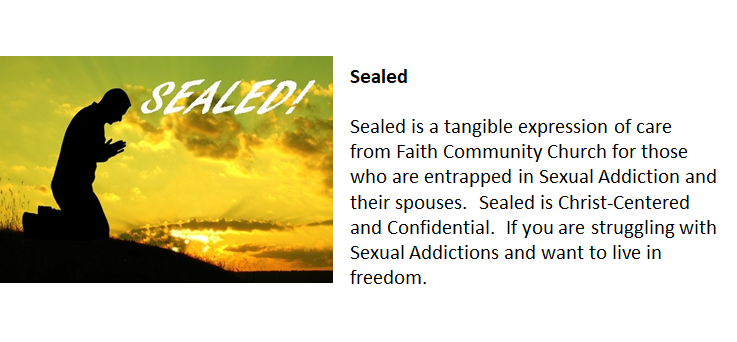 Healed! -  We now have a  Ministry for the Spouses of Sexual Addicts called Healed . This ministry focuses on helping women to work toward their own healing from the emotional toll that comes from living with a Sex Addict. If you are on need of Healing, please contact Pastor Gary at pastorgary@faithjanesville.org