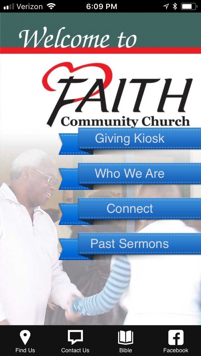 Take us on the go... - The Faith Community Church app is a great way to connect... anywhere, anytime!Click here for Android usersClick here for Apple usersThe app is intended to compliment your Faith experience.  You'll find past sermons, more about who we are, ways to connect, bible tools, online giving links and much more.