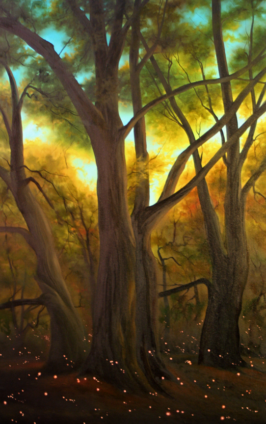 Dawn Watters Baker,   Night Lights   48X36 Oil on Canvas