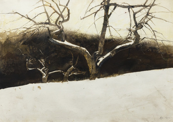 Andrew Wyeth,   Sunset  , Watercolor on paper