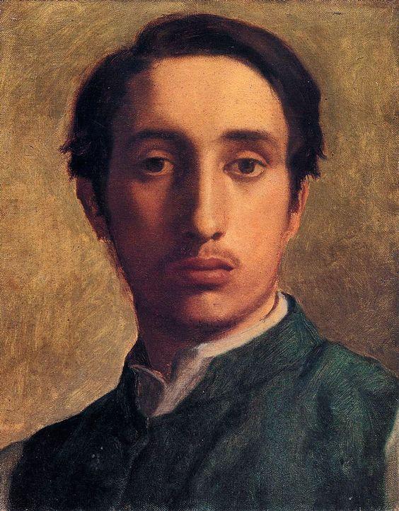 Edgar Degas , Degas in a Green Jacket , 1855