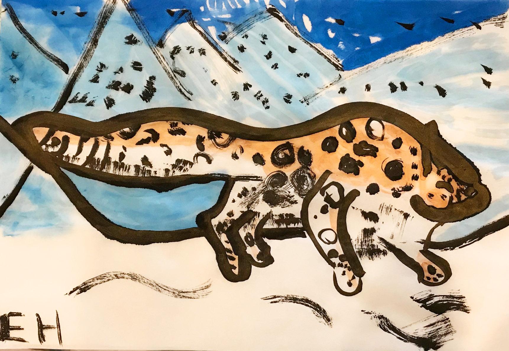 Snow Leopard by Elise, age 7