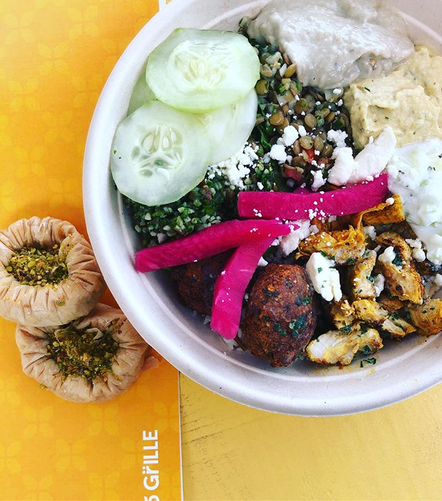 @freskogrille is the first restaurant to open within @stovehouse . ⚡️MODERN MEDITERRANEAN GRILLE⚡️ . . ⭐️Build Your Own Wraps or Bowls⭐️ . ▶️BASE: Rice, Lentil, Salad Mix . ▶️PROTEIN: beef/chicken shawarma, falafel, Kafta kabob, grilled eggplant . ▶️VEGGIES: Spiced Chickpeas, pickled turnips/cabbage, olives cucumbers... . ▶️SPREAD: Hummus varieties, Baba Ganoush (eggplant spread), Tzatziki . ▶️SALAD: lentil, quinoa, spicy potato, tabouli, cabbage, cucumber tomato . ▶️SAUCE: garlic, herb vinaigrette, tahini/gluten free tahini, hot sauce . ⭐️Pita bread, baklava, soup, tea and sodas. ⭐️Take your food to go or stay and eat within the grounds of @stovehouse. Plenty of seating within the grounds on swings, covered tables, indoor area, rooftop, high tops all while you enjoy music, checkers, bocce ball, lawn bowling and more. . 💫Excited to see each new restaurant open and fill this space with good fun and fun! 🤗☺️ . ⭐️⭐️I am a huge fan of the Mediterranean 'diet'. This diet encourages eating vegetables, whole grains, healthy fats, spices and herbs and promotes meals being joyful and eaten with friends and family.