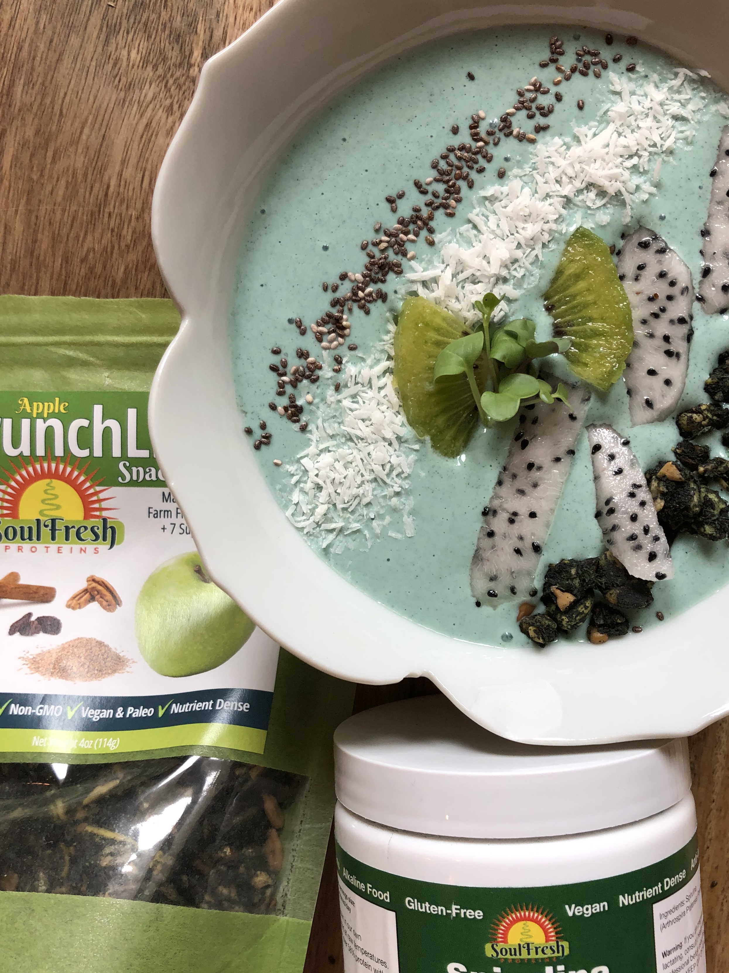 SoulFresh Proteins    Plant based protein: Spirulina    *Save 10% with this code at checkout: rcd10    https://soulfreshproteins.com/products/