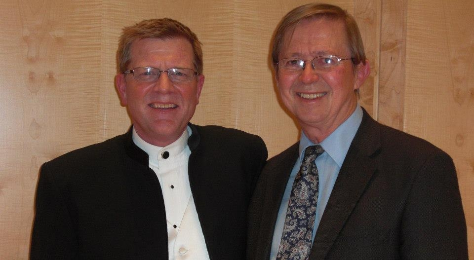 University of Utah Director of Bands Scott Hagen and David Maslanka worked together many times.