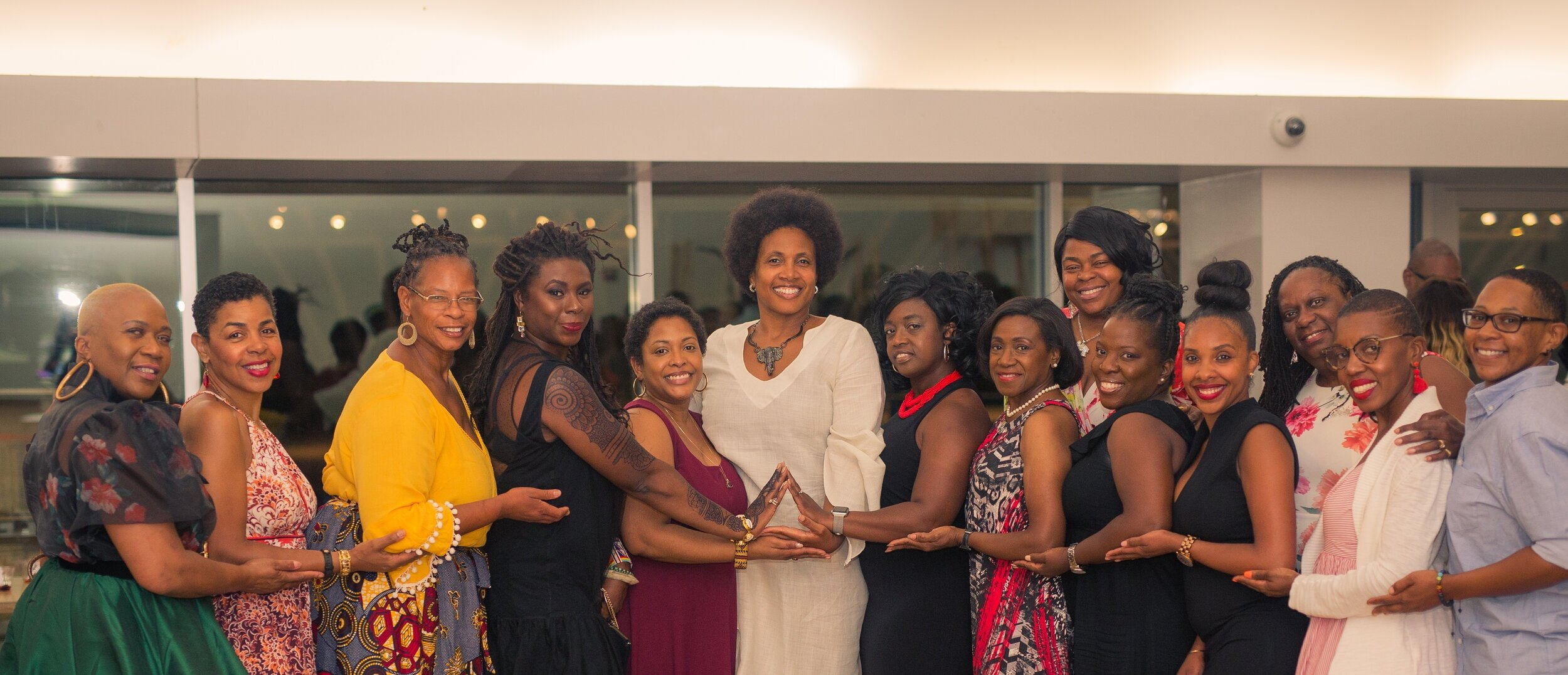 Darlene Williams and her Sorors of Delta Sigma Theta Sorority, Inc. during her Upscale Power Broker Soiree that was held at the Brooklyn Children's Museum  Photo Credit: OJM Photos