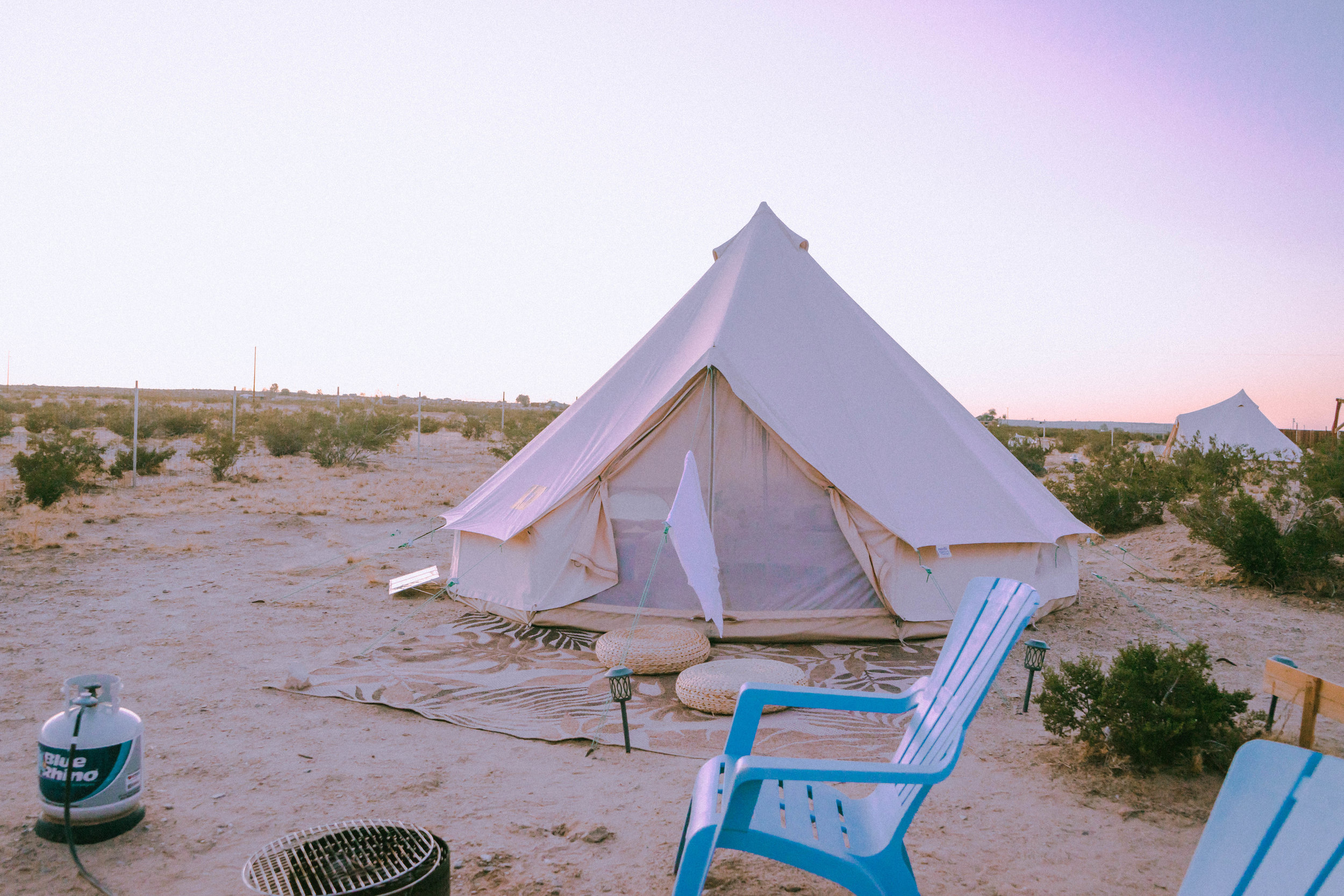 Aquarius tent at Purple Peaks in Twentynine Palms