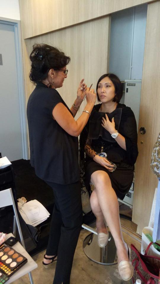 Stephanie Simoncini for Chic Seduction - awesome make up artist with Michelle Chua - gifted jazz Singer in Singapore
