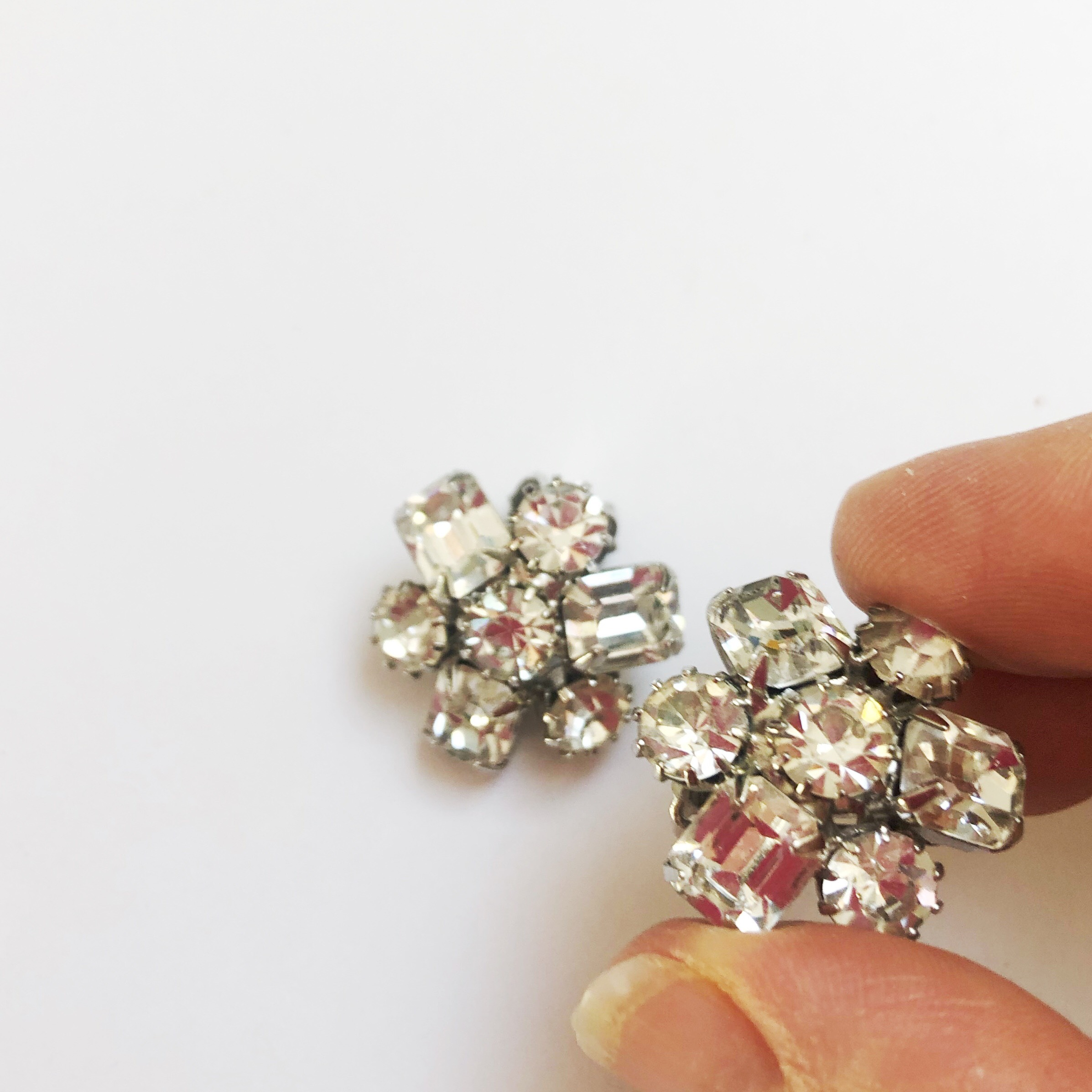 Vintage Weiss, 1950s. Austrian Crystal Clip Ons. $75
