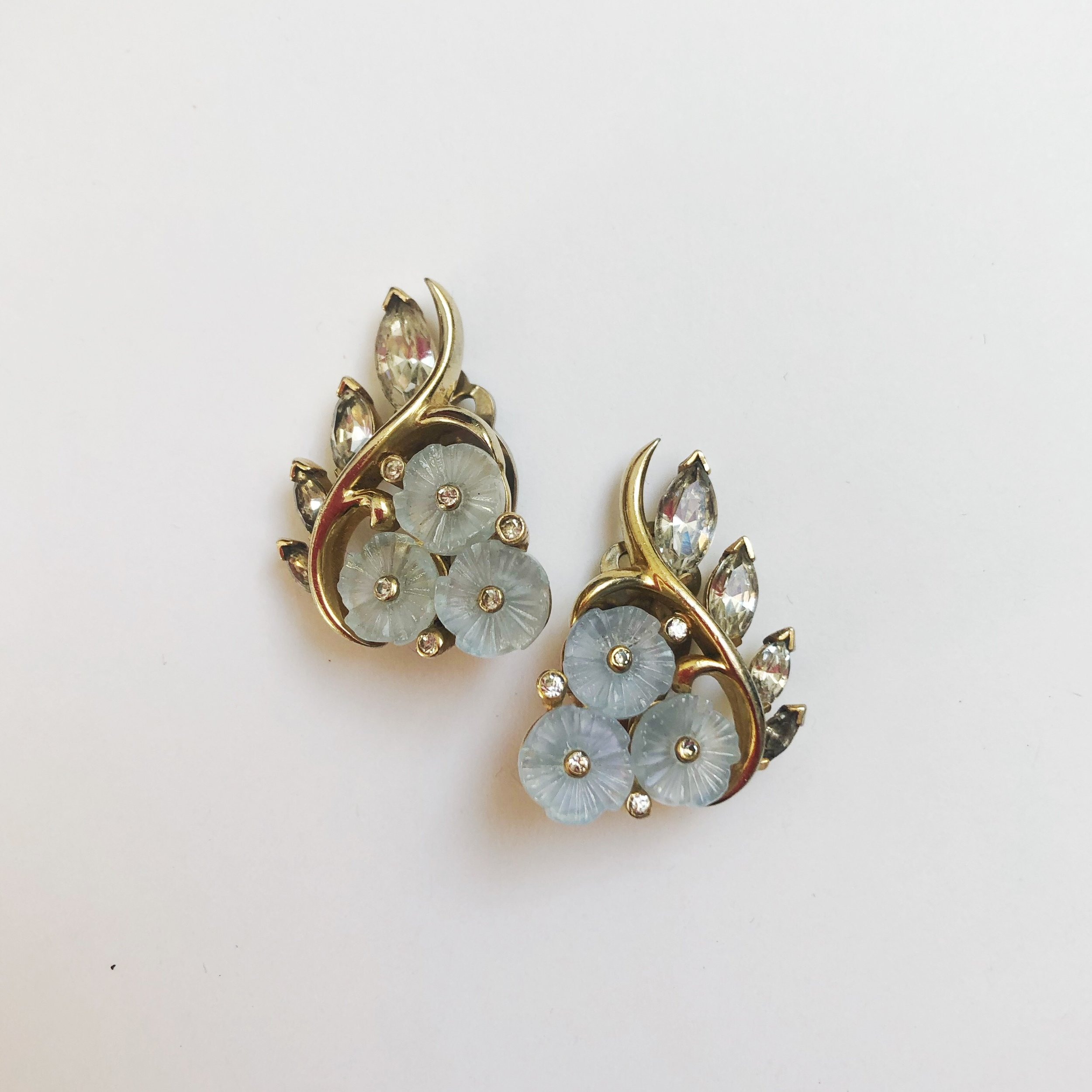 Vintage 1950s. Signed, Jomaz. Earrings $39.00