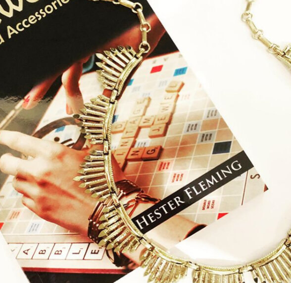 Coro Vintage Necklace pictured with my book, How to Buy Vintage Jewellery and Accessories
