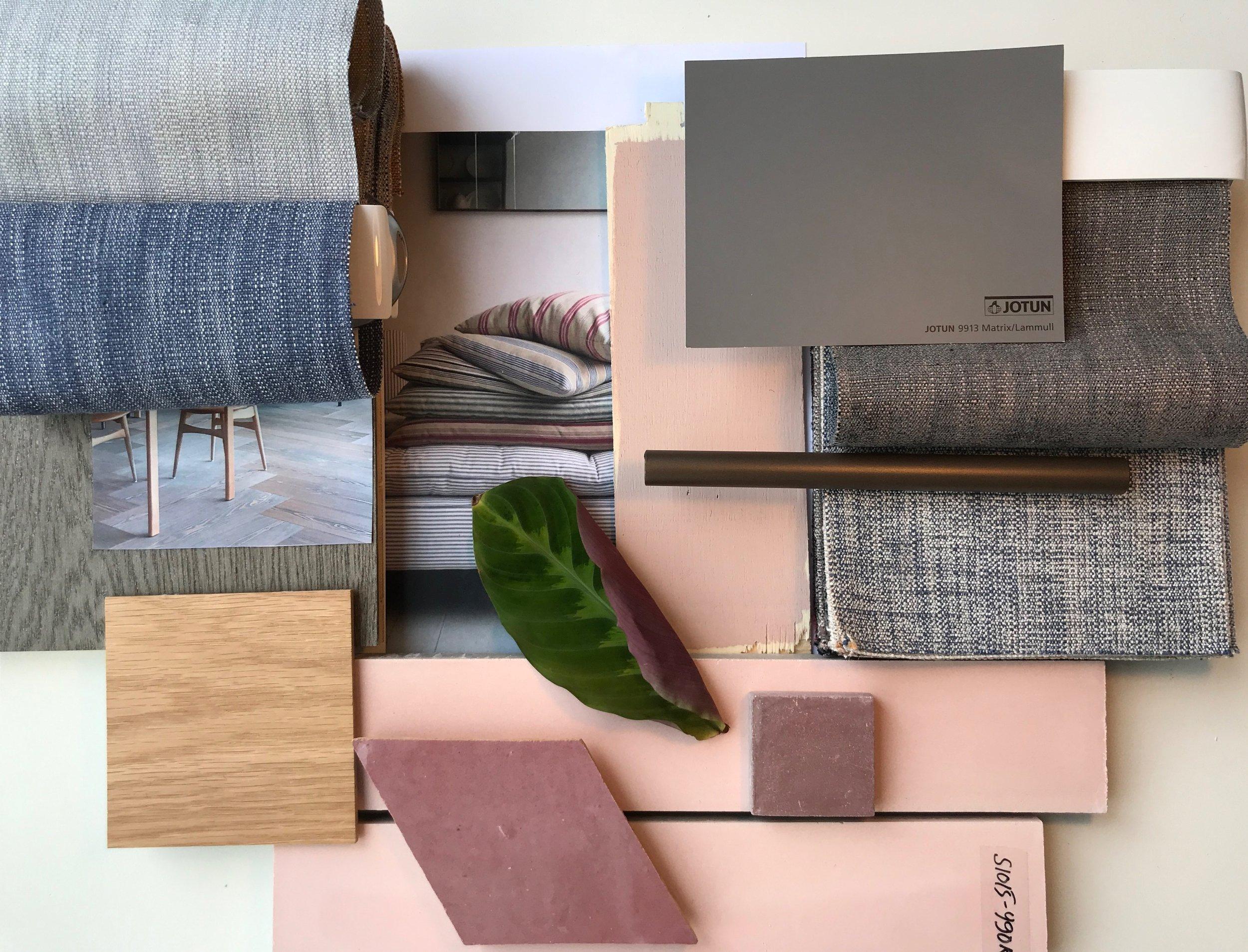 GARDE. Interior design, Color and material palette