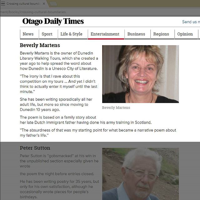 Shout out to The Distiller resident Beverly Martens for her feature in the @otagodailytimes