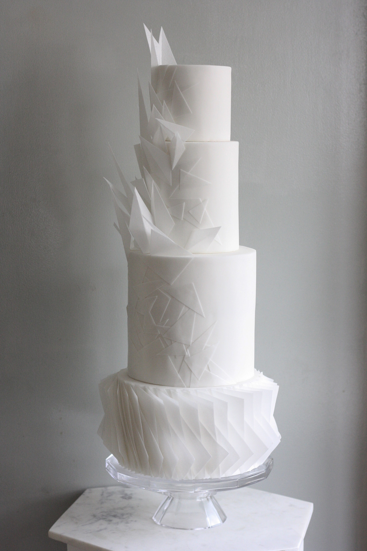 Malarkey Cakes Origami wedding cake.jpg