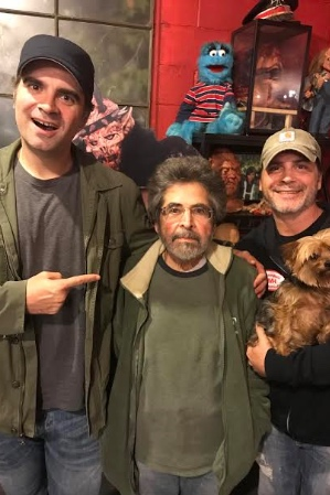 The Movie Crypt's Joe Lynch and Adam Green (LEFT & RIGHT) with the one and only Pasquale Buba