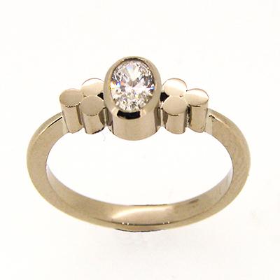 Triscel Diamond Engagement Ring