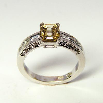 Yellow Diamond Engagment RIng