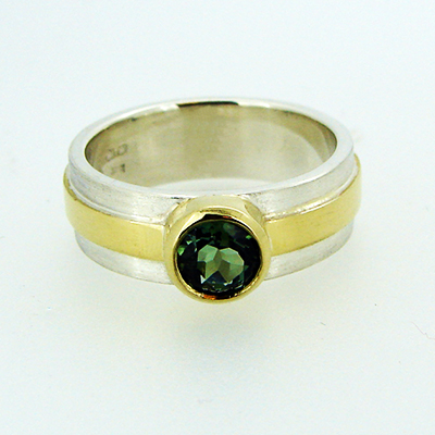 Green Tourmaline 1 silver and gold ring.jpg