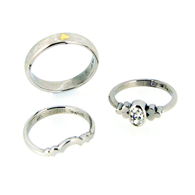 triscel wedding set 18ct White Gold Diamond Fitted Rings Complentary Gents Wedding Band.jpg
