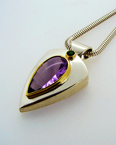 Green and Purple Pendent