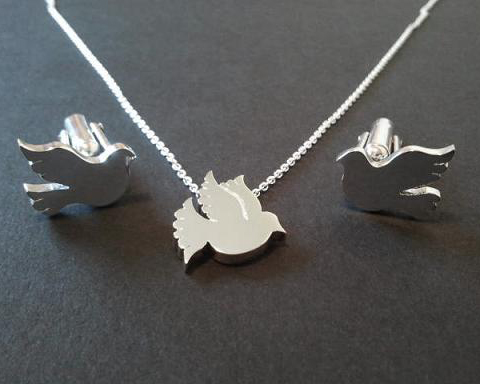 Dove Pendant and Cufflinks Sterling Silver.jpg