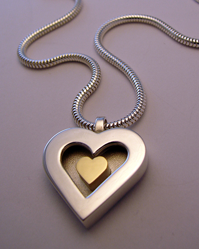 Heart of gold, Sterling Silver, 18ct Yellow Gold.jpg