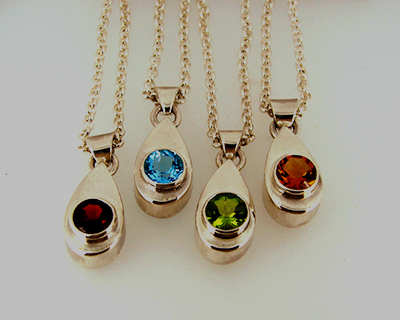 Rainbow Drops Sterling SIlver Garnet, Topaz, Peridot and Citrine.jpg