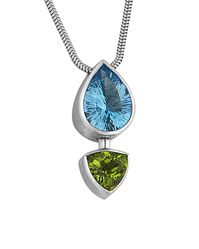 Topaz and Peridot Pendent, Sterling Silver.jpg