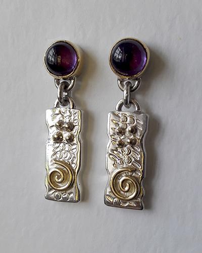 Purple Amythest Drop Celtic Earrings.jpg