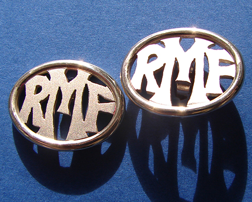Initial Cufflinks 9ct Yellow Gold. Polished and Sating Finish.jpg